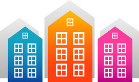 Vector houses stock illustration