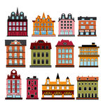 Vector houses Stock Photography