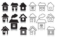 Vector houses Royalty Free Stock Photo