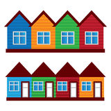 Vector houses, colored painted houses, Royalty Free Stock Image