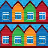 Vector houses, colored painted houses, Royalty Free Stock Photo
