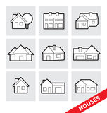 Vector houses icons Stock Photography