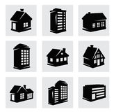 Vector houses icons set Royalty Free Stock Photo