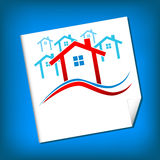 Vector Houses Real Estate Royalty Free Stock Photography