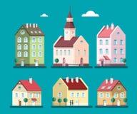Vector Houses Set. Buildings Illustration. House and Building Symbols vector illustration