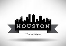 Vector Houston Skyline Design stock illustration