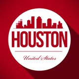 Vector Houston Skyline Design royalty free illustration