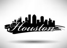 Vector Houston Skyline Design vector illustration