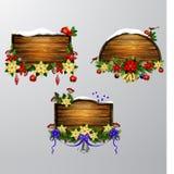 Vector houten Kerstmisraad Stock Fotografie