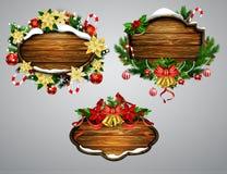Vector houten Kerstmisraad Royalty-vrije Stock Foto