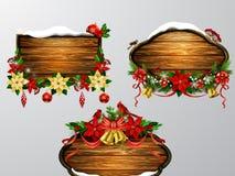 Vector houten Kerstmisraad Royalty-vrije Stock Fotografie
