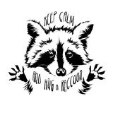 Vector hug raccoon Royalty Free Stock Image