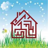 Vector huis Royalty-vrije Stock Afbeeldingen