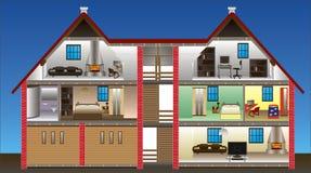 Vector huis royalty-vrije illustratie