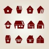 Vector huizen Royalty-vrije Stock Foto