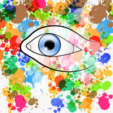 Vector Human Eye Illustration Stock Photo