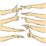 Vector human hands isolated Stock Images