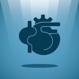 Vector human heart concept Royalty Free Stock Images