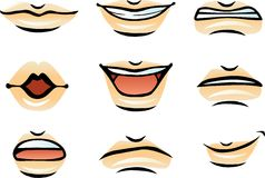 Vector Human Lips (male) Royalty Free Stock Images