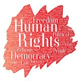 Vector human rights political freedom Royalty Free Stock Photography