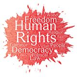 Vector human rights political freedom Stock Photo