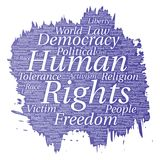 Vector human rights political freedom, democracy Stock Image