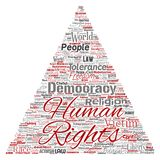 Vector human rights political freedom democracy Royalty Free Stock Images