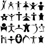 Vector human shapes Stock Images