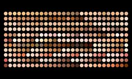 Free Vector Human Skin Tone Color Palette Swatches Stock Image - 147999381