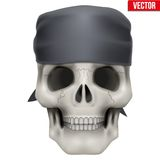 Vector Human skull with bandana on head Royalty Free Stock Images