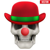 Vector Human skull clown. Front view Royalty Free Stock Image