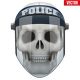 Vector Human skull with police protect mask on Stock Images