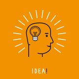 Vector human thinking concept royalty free illustration