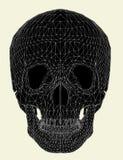 Vector humano 01 del cráneo stock de ilustración