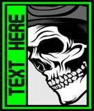 Vector humano del dibujo de la mano del diseño gráfico del cráneo libre illustration