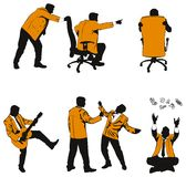 Vector humorous silhouettes of. Business people Stock Photography