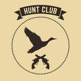 Vector hunting club emblem.  Stock Image