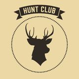 Vector hunting club emblem.  Stock Photography