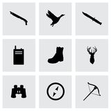 Vector hunting icons set Stock Images