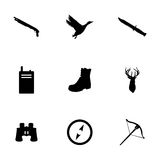 Vector hunting icons set Royalty Free Stock Photos