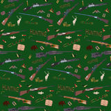 Vector hunting seamless pattern Royalty Free Stock Images