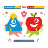 Vector Hunting for virtual creatures concept. Abstract mobile game. Flat style colorful Cartoon illustration. Stock Images