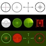 Vector i Crosshairs dell'obiettivo Fotografia Stock