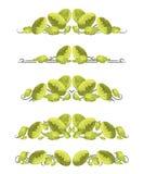 Vector i divisori del testo con cavolo cinese nello stile di origami illustrazione vettoriale