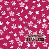 Vector i fiori bianchi di scarabocchio su fondo rosa luminoso, lo stile d'annata, fondo senza cuciture illustrazione vettoriale