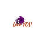 Vector i love you with cartoon flower Stock Photography