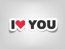 Vector i love you. This is file of EPS10 format Royalty Free Stock Photo