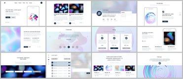 Vector i modelli con i modelli geometrici, la pendenza, le forme fluide per progettazione del sito Web, le presentazioni minime,  Immagini Stock