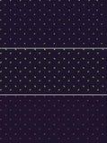 Vector i modelli o le strutture senza cuciture fissati con i pois su fondo viola Immagine Stock Libera da Diritti