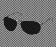 Vector i vetri realistici d'avanguardia dell'occhio nero, iso moderno degli occhiali da sole Fotografia Stock Libera da Diritti